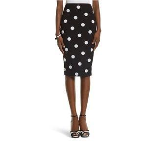 WHBM Sequin Polka Dot Black Skirt